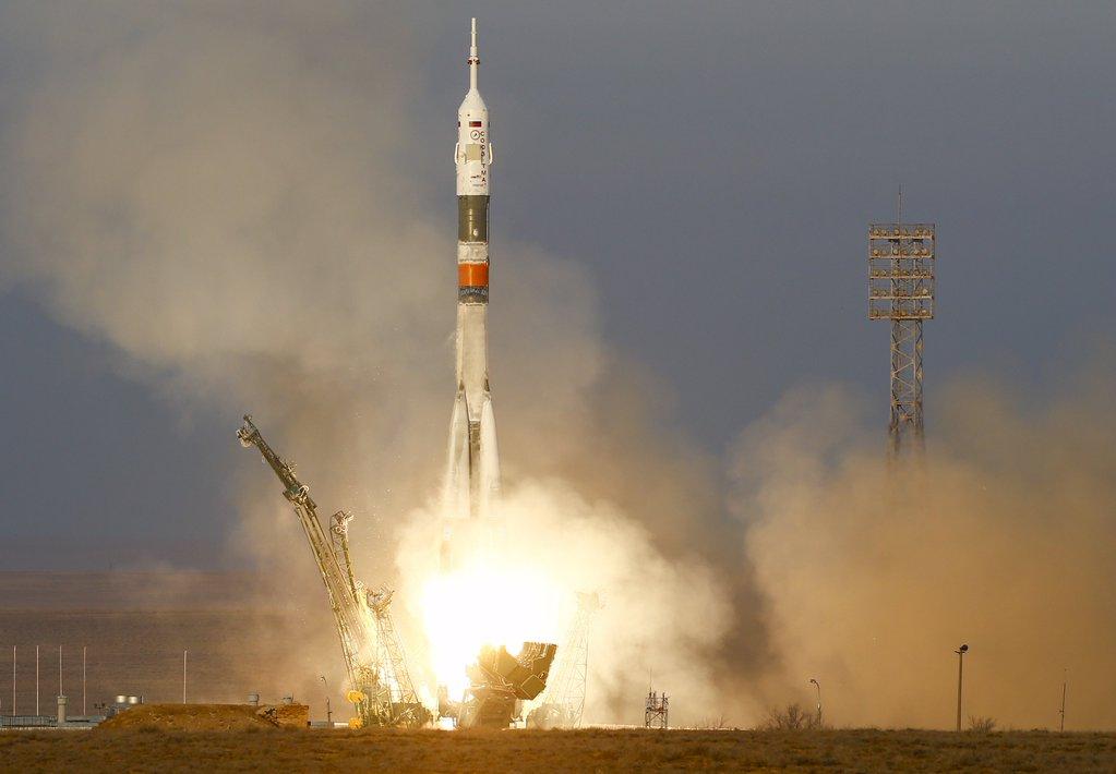 Tim Peaks Ble Sendt Opp Til ISS I Dag Sammen Med To Andre Astronauter.