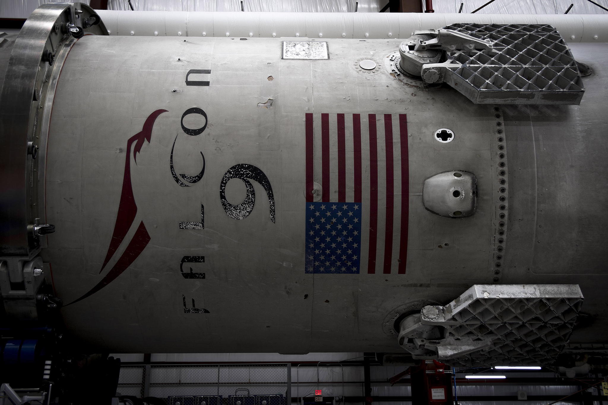 Close-up Of The First Stage Of The Falcon 9 Rocket That SpaceX Landed During An Orbital Launch On Dec. 21, 2015. Credit: SpaceX