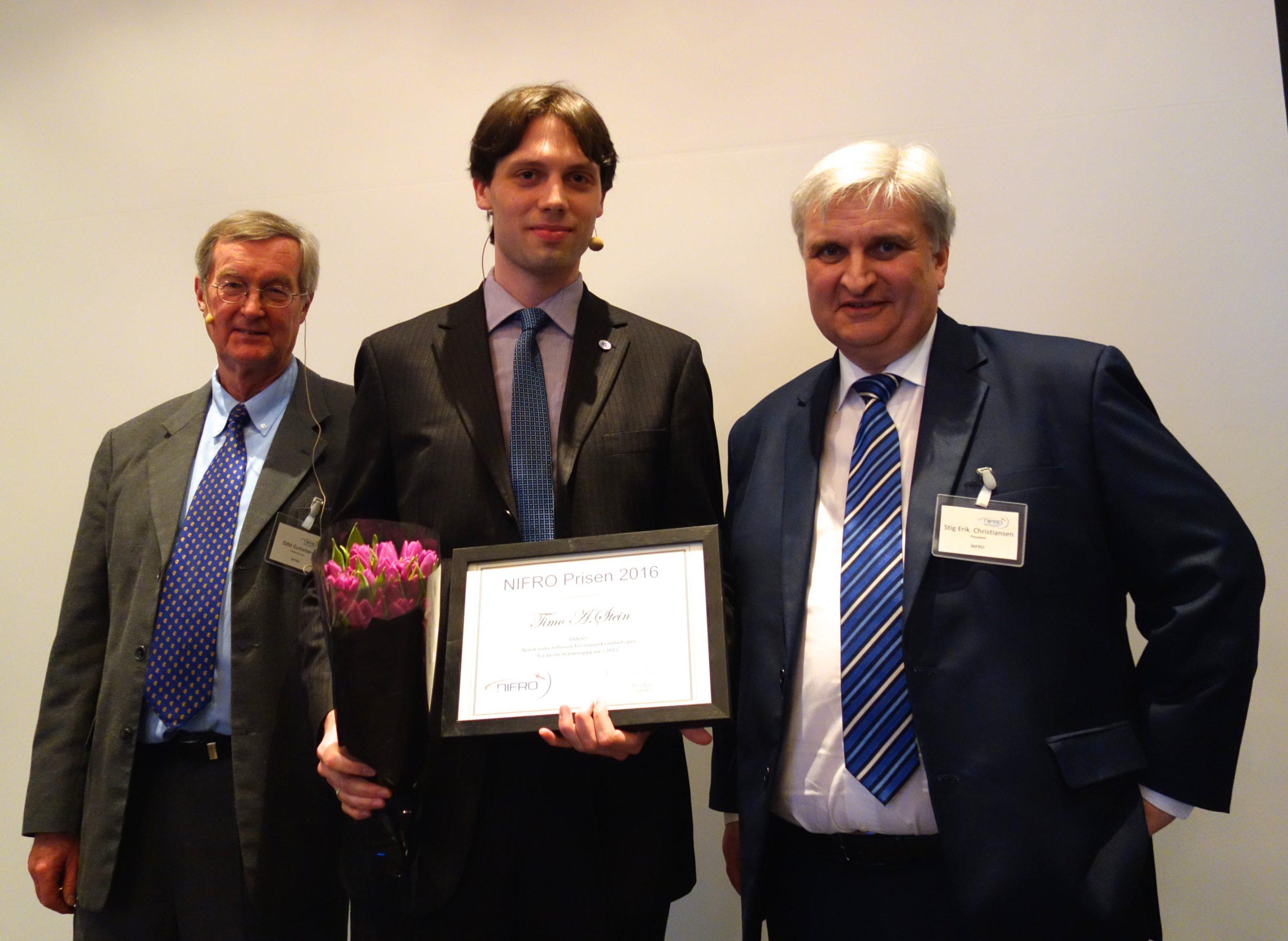NTNU-student Tildelt NIFRO-prisen For 2016.