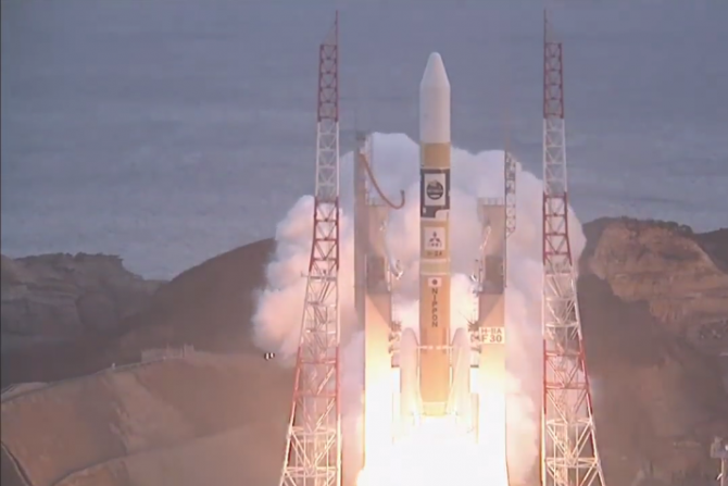 The Japan Aerospace Exploration Agency Launched ASTRO-H, An X-ray Observatory, Wednesday. PHOTO: JAXA/YOUTUBE SCREENSHOT